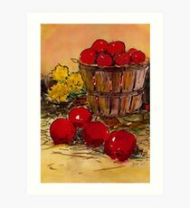 bucket of apples Art Print