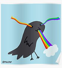 Rainbow-eating Crow Poster