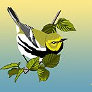 Black-Throated Green Warbler by BennuBirdy