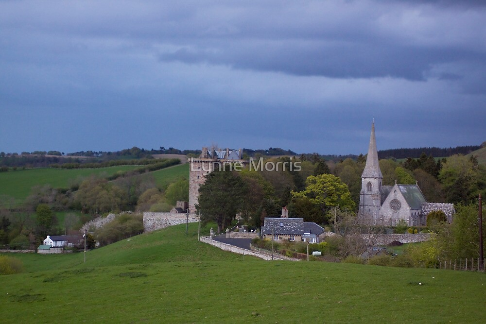 Borthwick Castle and Church by Lynne Morris