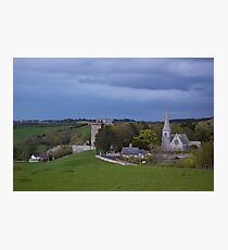 Borthwick Castle and Church Photographic Print