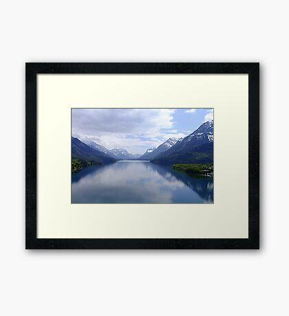 Beautiful Waterton Framed Print