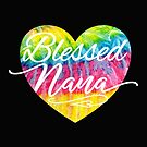 Cute Tie Die Heart Blessed Nana Unique Spring-Time design by kimmicsts