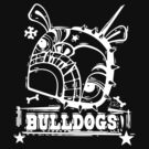 Grim the Bulldog III white on black by Beesty