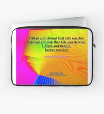 I Slept and Dreamt Laptop Sleeve
