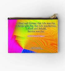 I Slept and Dreamt Zipper Pouch