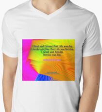 I Slept and Dreamt V-Neck T-Shirt