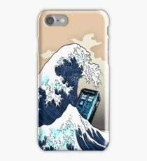 Space And Time traveller Box Vs The great wave iPhone Case/Skin