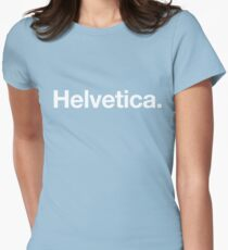 Helvetica Womens Fitted T-Shirt