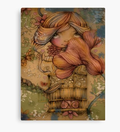 The Heart Garden of Hazel Rose Canvas Print