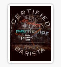 Certified Barista Sticker
