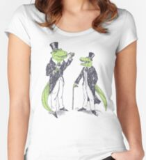 Tea Rex and Velo Sir Raptor Women's Fitted Scoop T-Shirt
