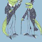 Tea Rex and Velo Sir Raptor by wytrab8