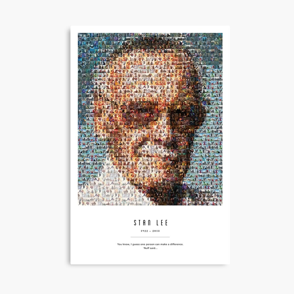 Stan Lee Zitat Poster Leinwanddruck