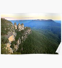 Three Sisters Twilight, Blue Mountains, Australia Poster
