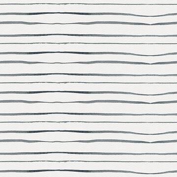 Hand painted white gray watercolor striped pattern by Kicksdesign