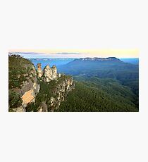 Three Sisters Twilight, Blue Mountains, Australia Photographic Print