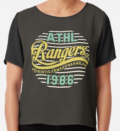 Athletic Rangers 1986 Vintage Chiffon Top