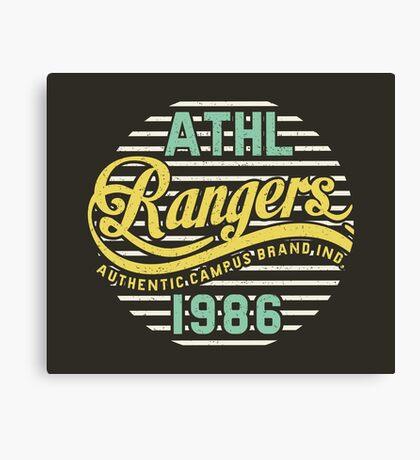 Athletic Rangers 1986 Vintage Canvas Print