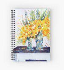 Cheryl's Gold Spiral Notebook