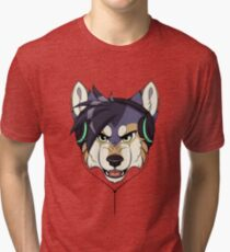 Headphone Wolf Tri-blend T-Shirt