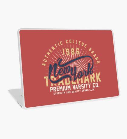 New York Vintage Hand Lettering College Design Laptop Skin