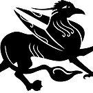 Mittelalterliche königliche Griffin-Silhouette von XOOXOO