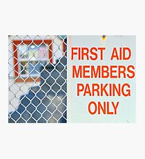 first aid Photographic Print