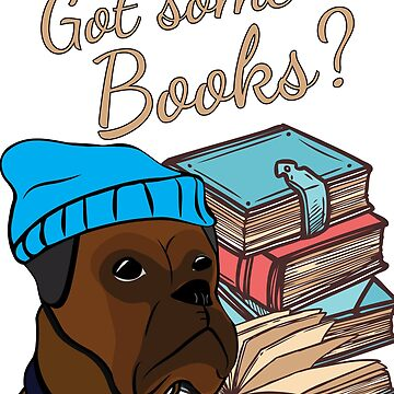 Funny Boxer and books - Got some books?  by handcraftline