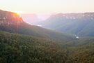 Govetts Leap, Blue Mountains, Australia by Michael Boniwell