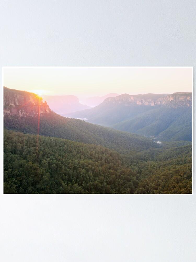 Alternate view of Govetts Leap, Blue Mountains, Australia Poster