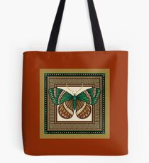 Emerald Butterfly Tote Bag