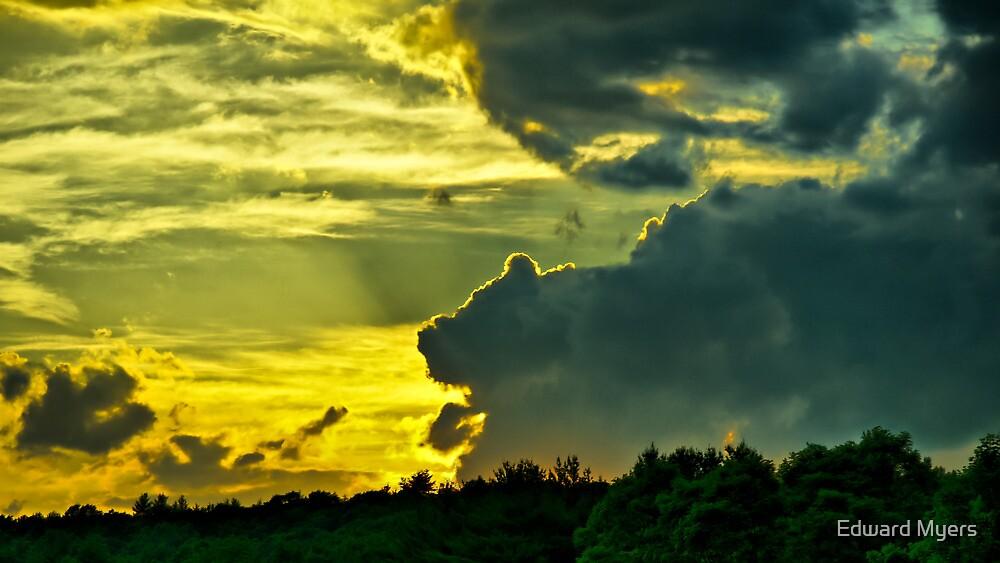 Sunset Cloud Animal by Edward Myers
