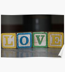 Love in old wooden blocks Poster
