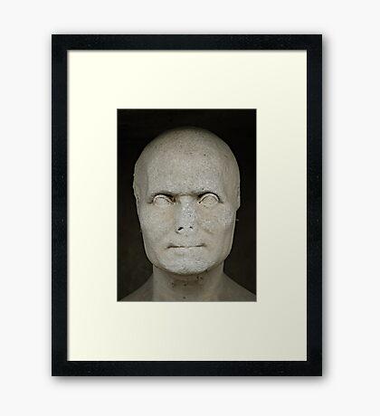 Bust of Joseph Fourier, Pere Lachaise Cemetery, Paris Framed Print