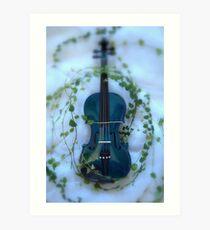 il violino blu con edera © 2010 patricia vannucci Art Print