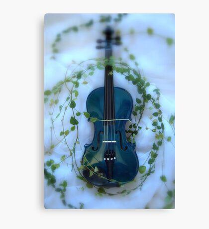 il violino blu con edera © 2010 patricia vannucci Canvas Print