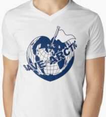 SAVE THE ARCTIC - GREENPEACE Men's V-Neck T-Shirt