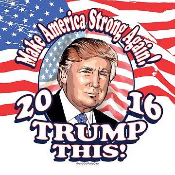 Trump This 2016 Donald Trump Portrait by PoliticalCircus