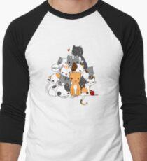 Meowntain of cats Men's Baseball ¾ T-Shirt