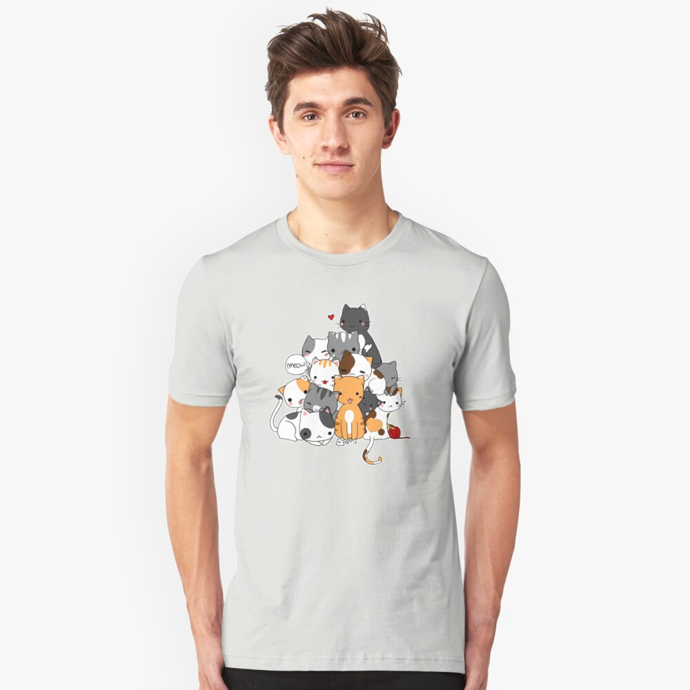 Meowntain of cats Unisex T-Shirt Front