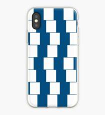Verwirrende Linien Dunkelblau iPhone-Hülle & Cover