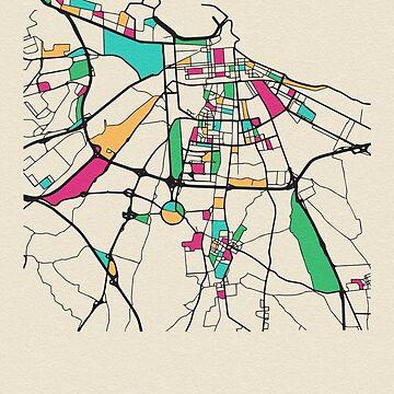 Mapa de Bari, Italia de geekmywall