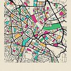 «Mapa de calles de Basel, Suiza» de A Deniz Akerman