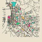 «Baton Rouge, Louisiana Mapa Callejero» de A Deniz Akerman