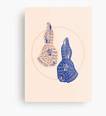 Lienzo metálico Rabbitybabbity