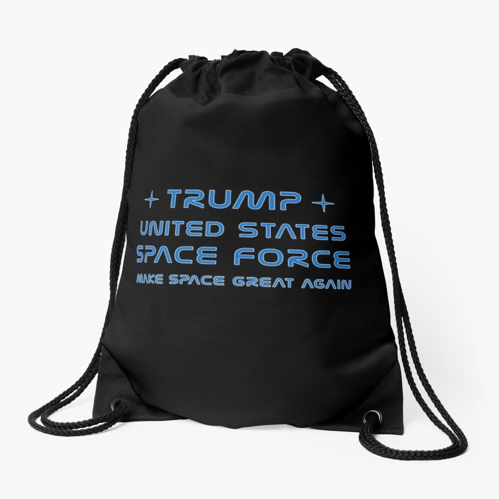 Trump, United States Space Force, USSF. Drawstring Bag