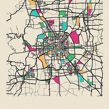 Mapa de calles de Beijing, China de geekmywall