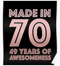 49th Birthday Gift Adult Age 49 Year Old Women Mom Auntie Poster