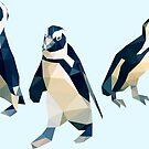 «Trio de pingüinos geométricos africanos» de purplesparrow